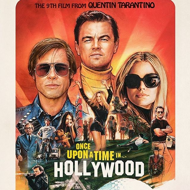 The #onceuponatimeinhollywood official poster has arrived.