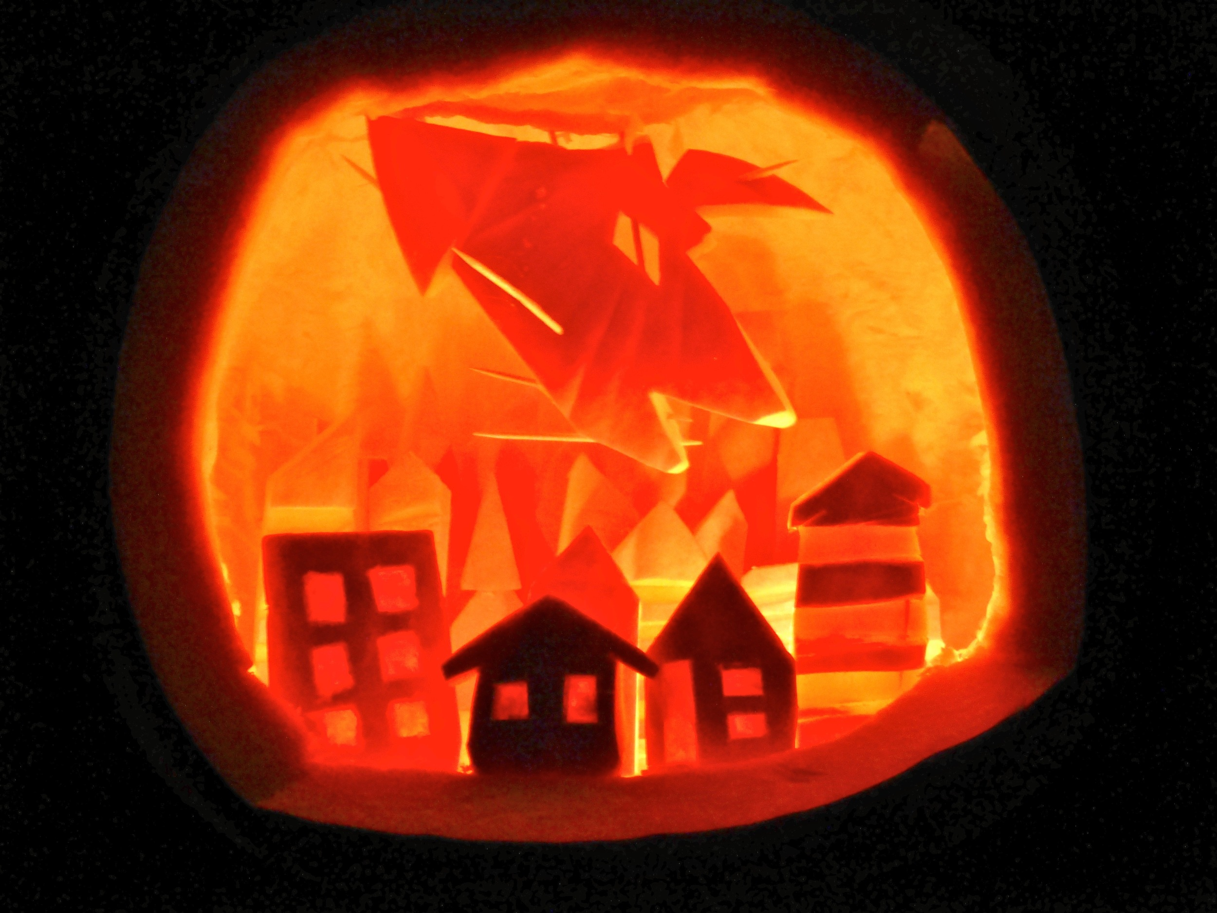 Fire Dragon Pumpkin!