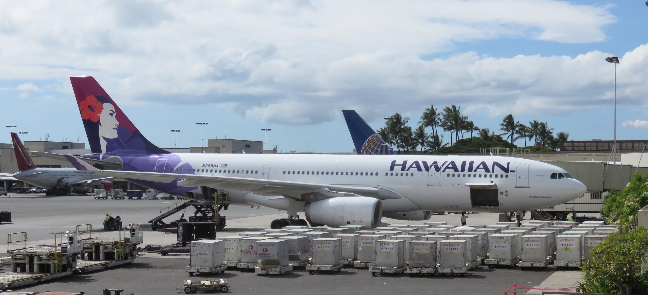 Hawaiian Air A330 at Honolulu