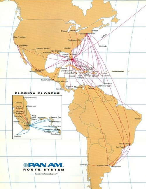 Pan Am's final route map.