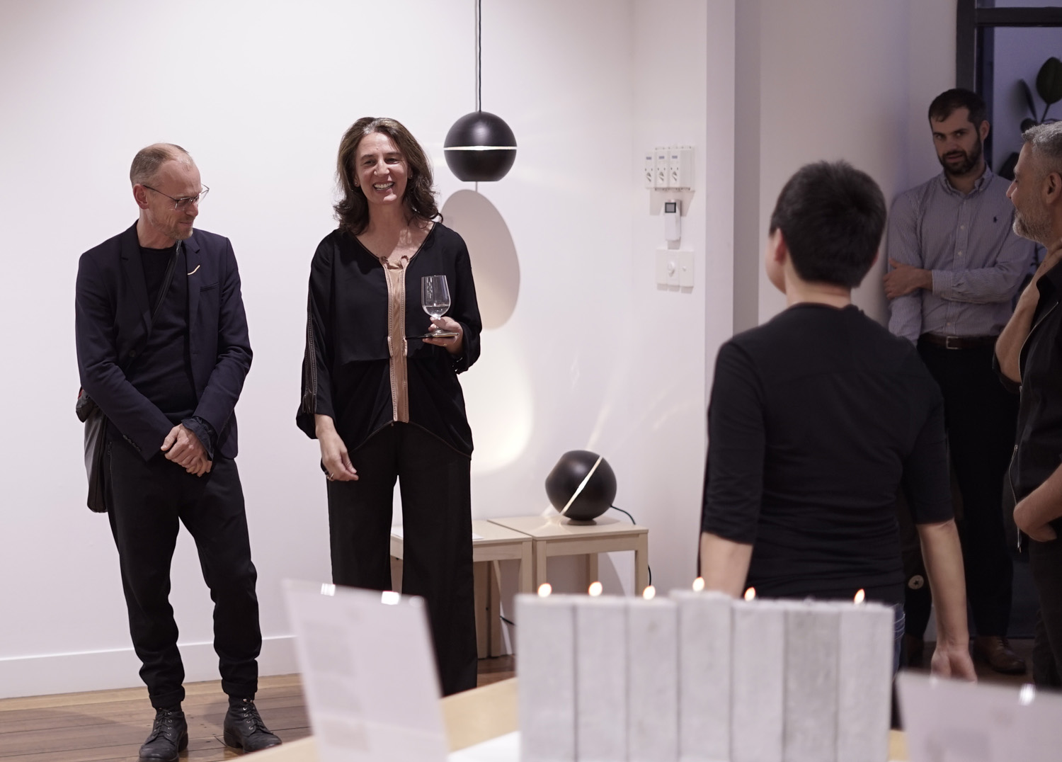 Erna Walsh CEO of KFive + Kinnarp Australia kindly provide the showroom space for the exhibition.