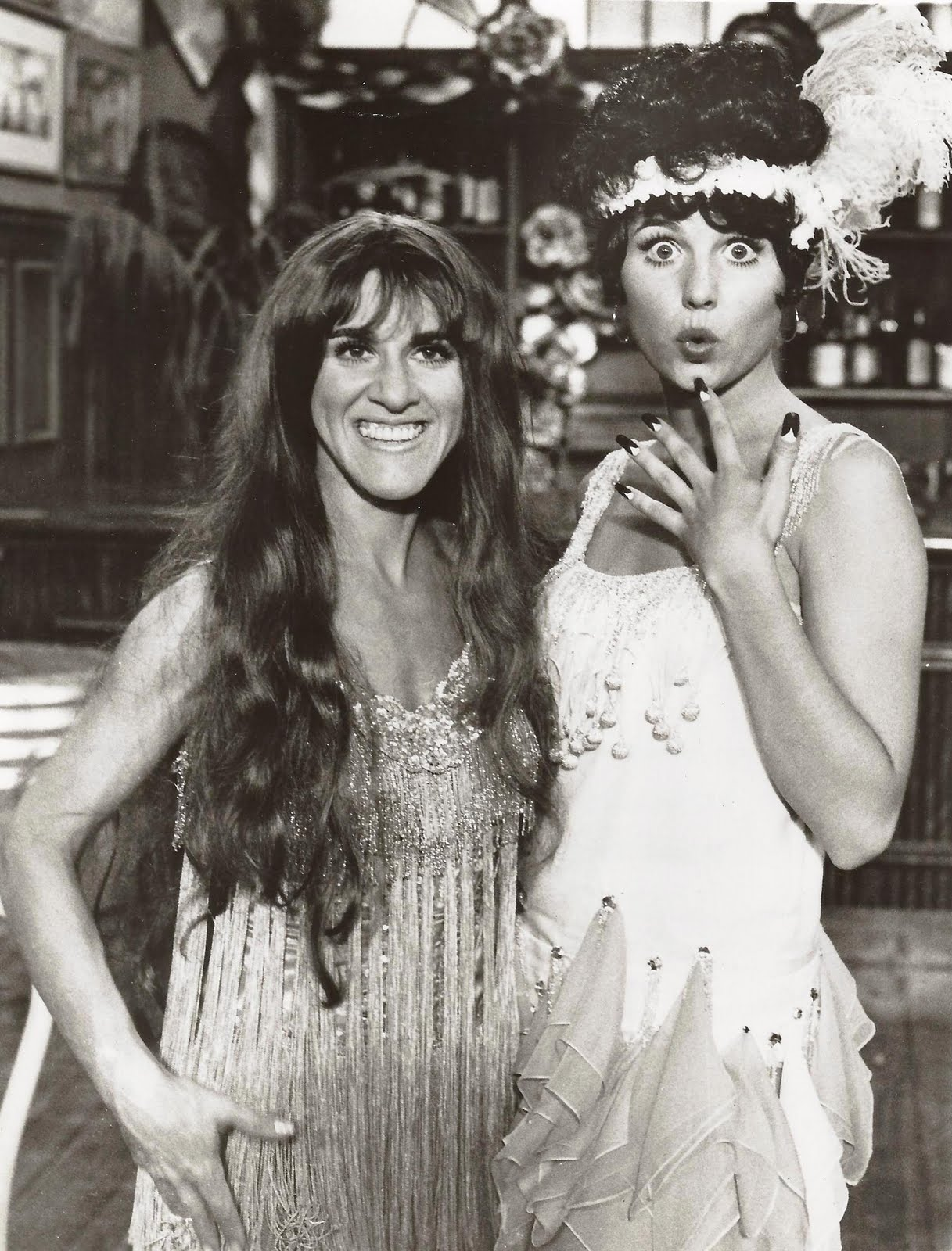 """Lucie performs with Ruth Buzzi in """"Here's Lucy."""""""