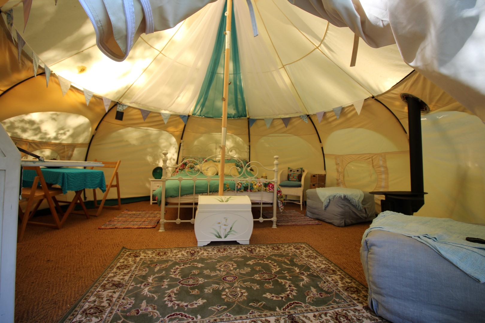 A luxurious glamping space