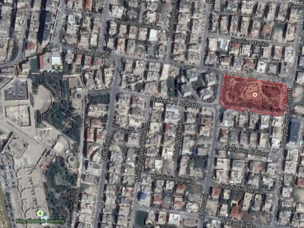 Aerial view showing the park's location    لقطة جوية تبين موقع الحديقة