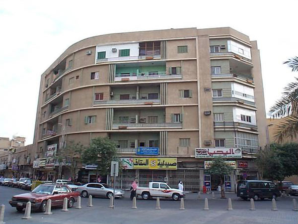 Figure 11: A view of the 1959 Fahd bin Muhammad's apartment building, one of the early apartment buildings constructed in Riyadh.