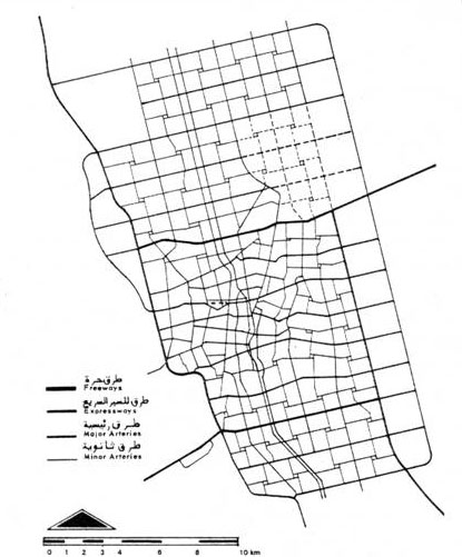 Figure 15: The 1972 master plan for Riyadh, designed by Doxiadis Associates.