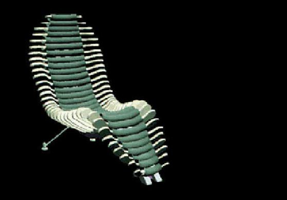 Figure 9: CAD model of a design carried out for the chair design studio project at MIT.