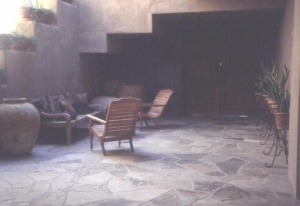 Fig. 10: The use of slate surfaces in a landscape design