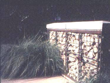 Fig. 14: The use of a gabion in a public landscape design.