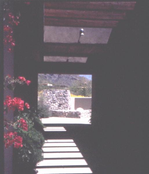 Fig. 15: The use of a wooden ramada as a shade-providing element in a landscape design.