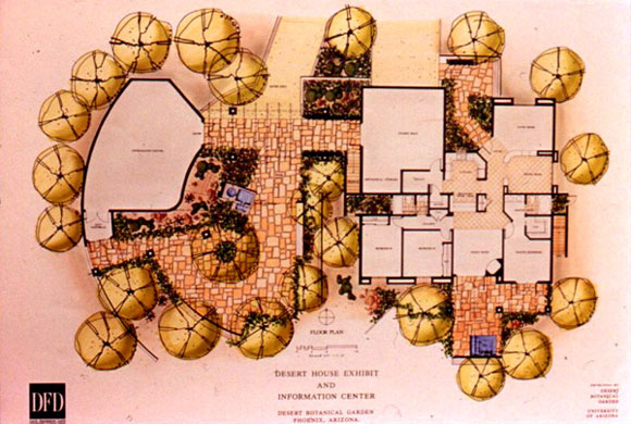 Figure 7: The layout plan of Desert House.