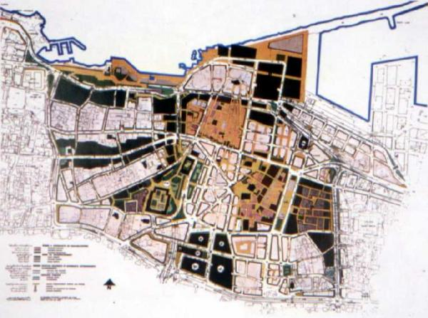 Figure 2: The 1977 APUR Reconstruction Plan for Beirut.