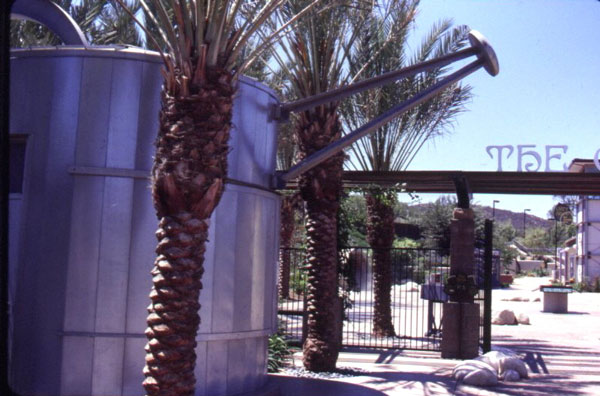 Figure 3: The Water Conservation Demonstration Garden in San Diego, California: The watering can-shaped information kiosk.