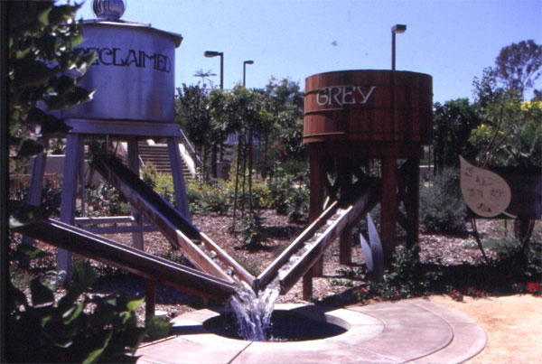 Figure 6: The Water Conservation Demonstration Garden in San Diego, California: The water alternatives area.