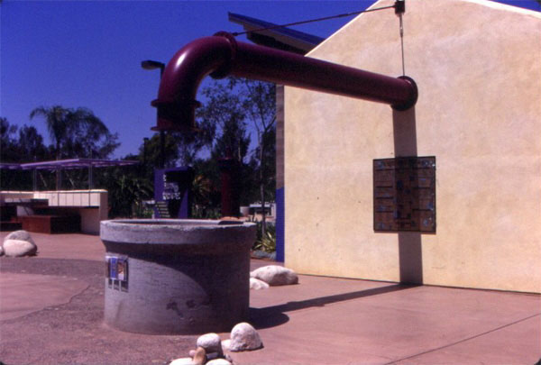 Figure 7: The Water Conservation Demonstration Garden in San Diego, California: A representation of rainwater harvesting.