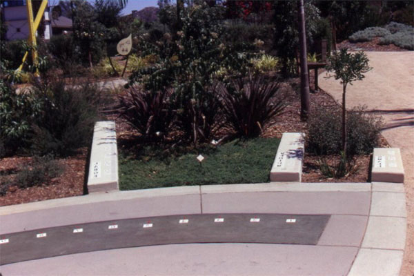 Figure 9: The Water Conservation Demonstration Garden in San Diego, California: Low-water-using planting materials and the signage explaining them.