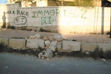A broken pavement in the Sports City district of Amman. (Paul Tate)