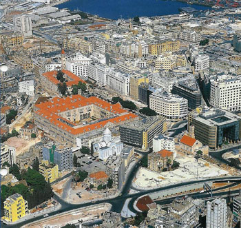 Aerial view of the Beirut Central Business District. (Solidere)