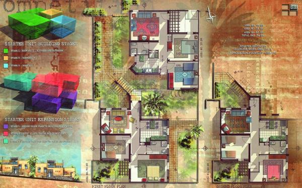 A submission to the Competition for the Design of a Model Water- and Energy-Efficient Low-Income Expandable Housing Unit