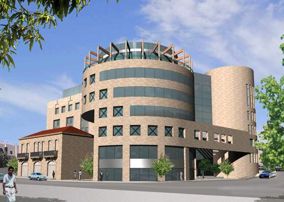 Proposed design for the Ramallah Commercial Center (entry by Darb)