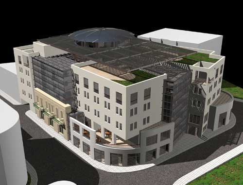Proposed design for the Ramallah Commercial Center (entry by GDAR Group)