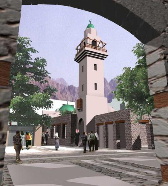A mosque in al-Hafayer Area