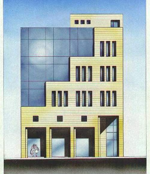 Elevation view of the Administration Building at JUST