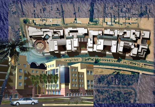 The submission for the design of al-Afran Urban Development Project Competition by Tahhan and Bushnaq architects