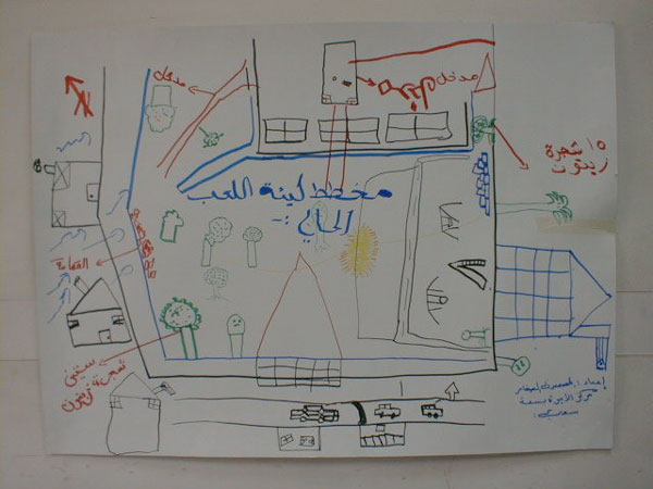 Figure 2: Site analysis that the children carried out.