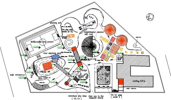 Figure 6: Proposed site plan developed for the play environment.