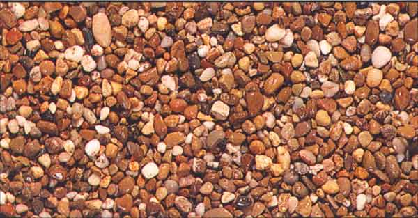 River run rock can provide an attractive ground cover that also serves to reduce water evaporation, inhibit weed growth, as well as reduce salt build up and soil compaction.
