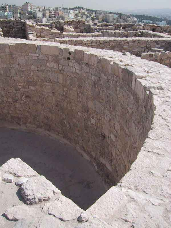 View of cistern that functions as main water storage area at the Amman Citadel. (image credits: Dalia al-Husseini)