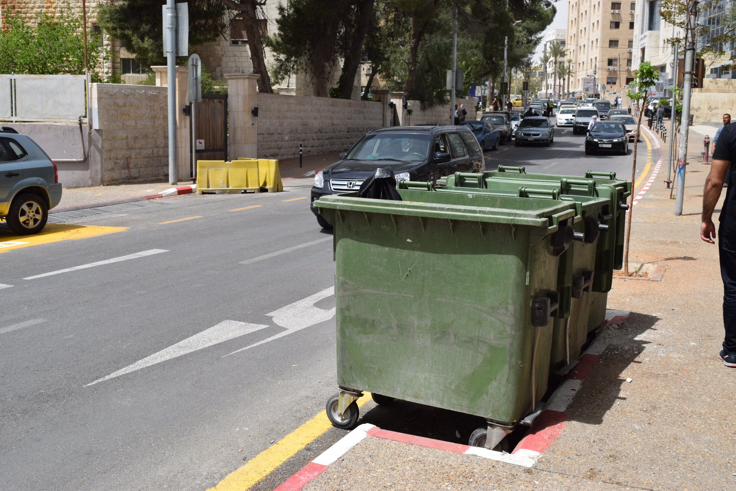 An image showing a designated area for dumpsters.