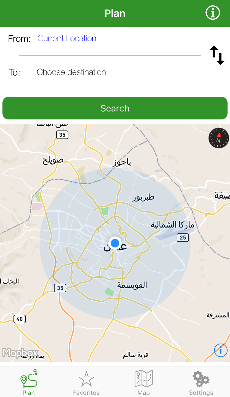 Khutoutna App: An Alternative Way to Navigate Amman