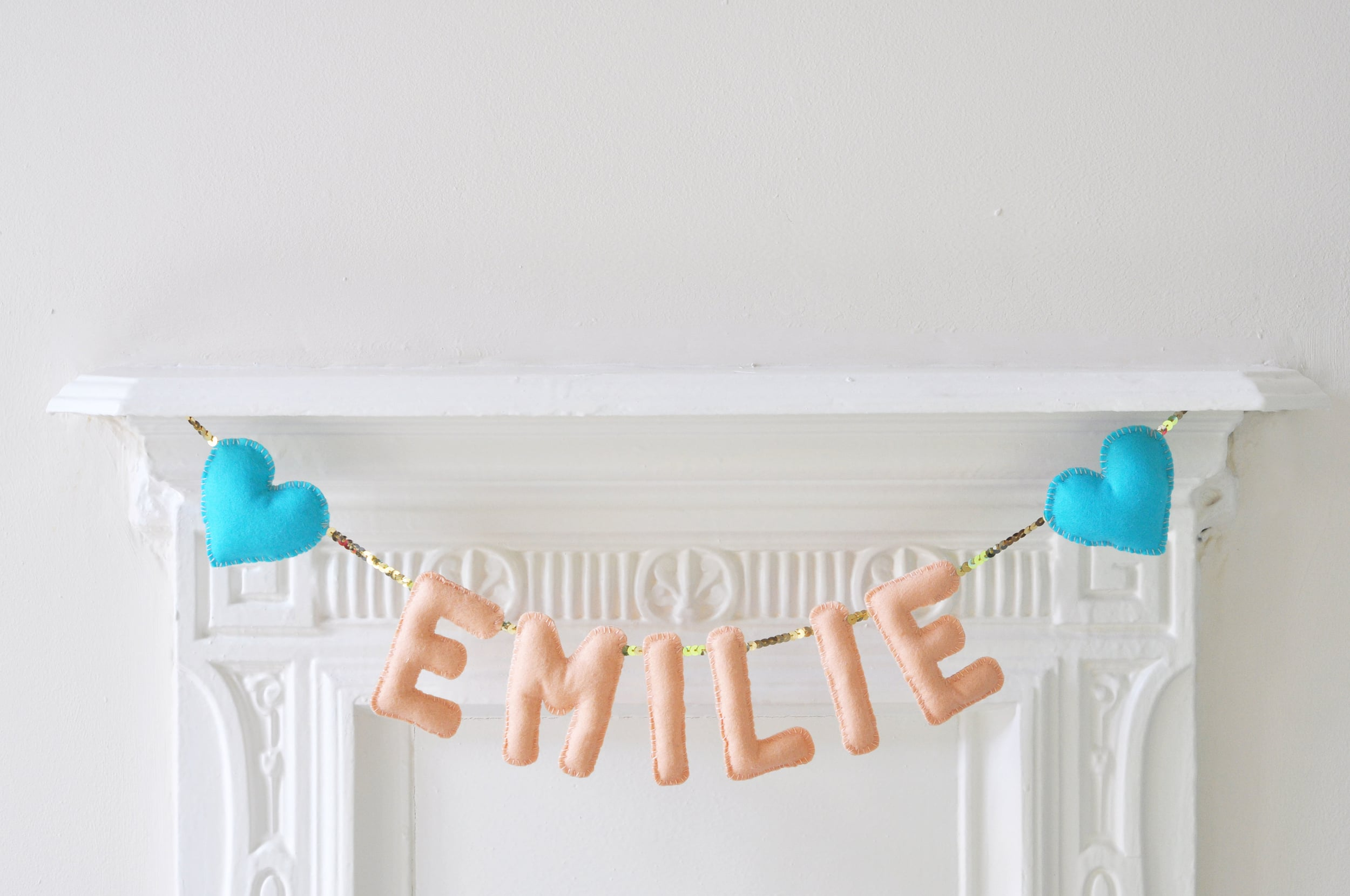 EMILIE BABY NAME BUNTING