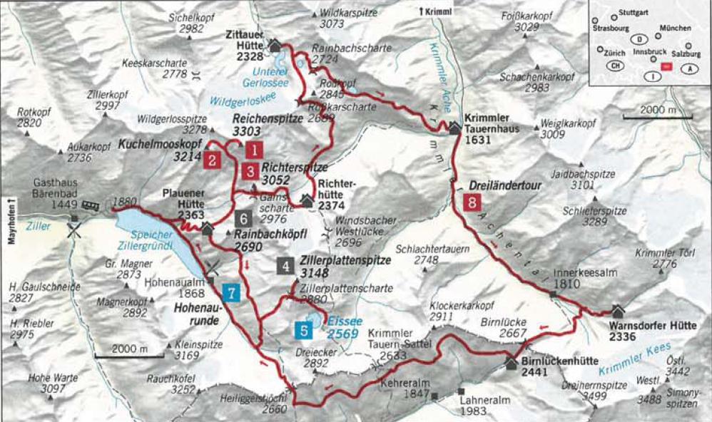 Diese anschauliche Übersichtskarte kommt von ALPIN - Das BergMagazin, Ausgabe 5/17  Hier geht's zur gesamten Geschichte auf  alpin.de
