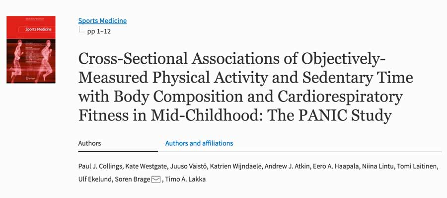 Cross-Sectional Associations of Objectively-Measured Physical Activity and Sedentary Time with Body Composition and Cardiorespiratory Fitness in Mid-Childhood: The PANIC Study