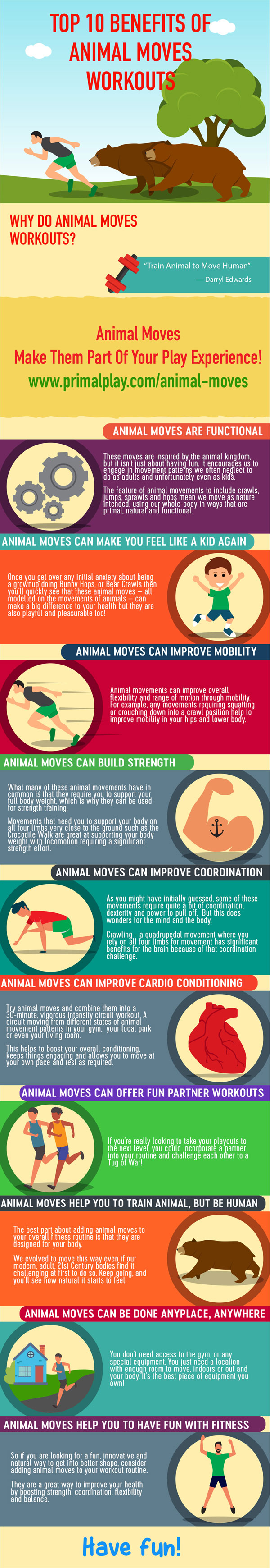 Have fun with   Animal Moves   workouts!