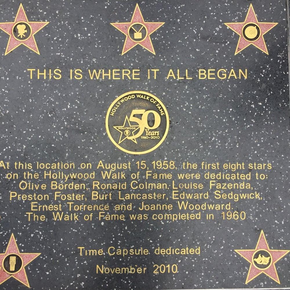 Pakollinen visiitti Hollywood Bulevardille tapahtuman jälkeen.