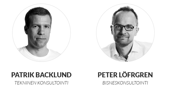Sovelluskehityksen konsultointi: Patrik Backlund ja Peter Löfgren
