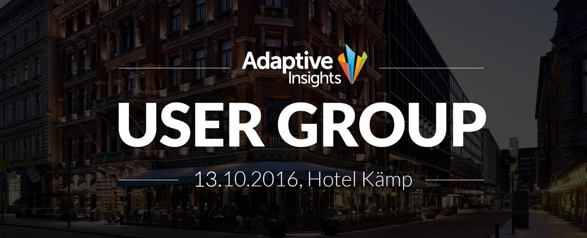 Adaptive Insights User Group - 13.10.2016 - Hotel Kämp