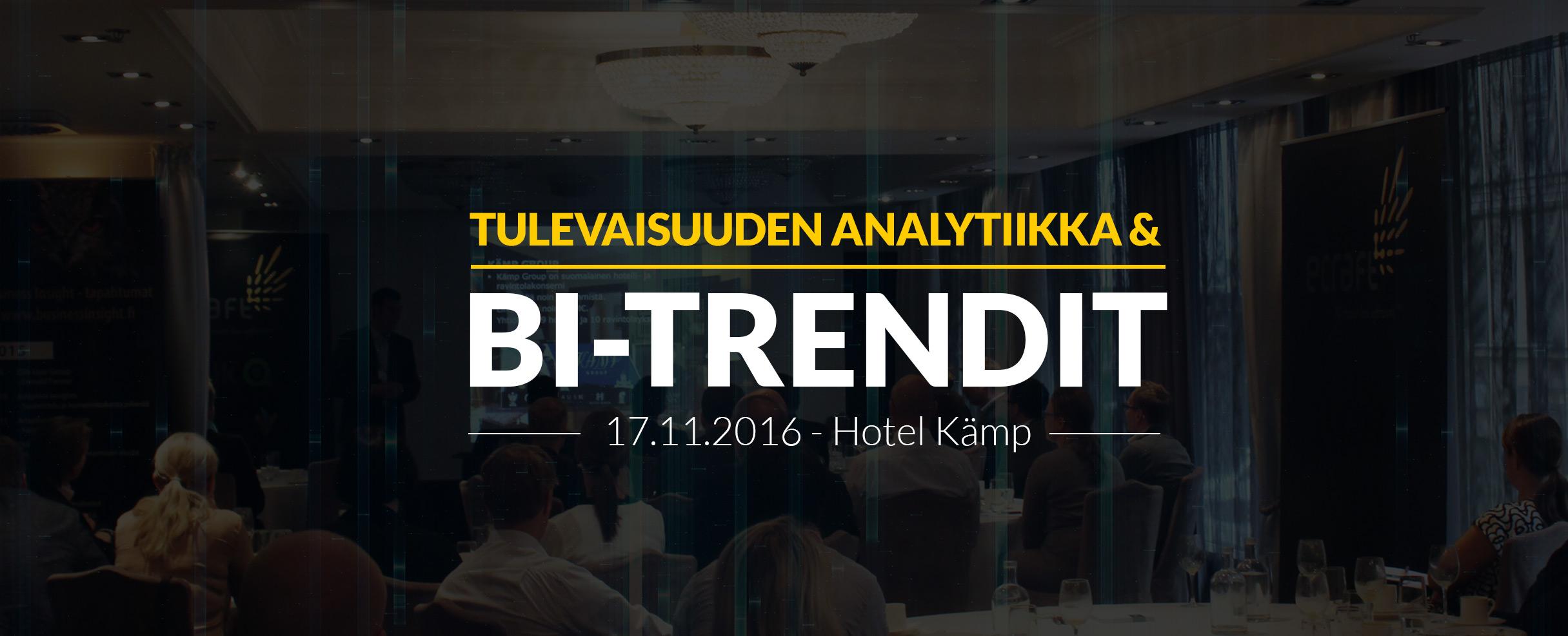 Qlik user group - 17.11.2016 - Hotel Kämp