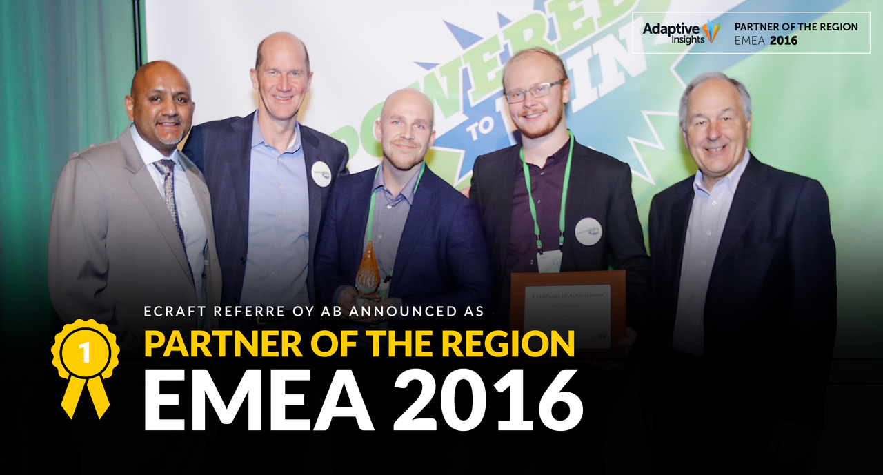 Partner of the Region EMEA 2016
