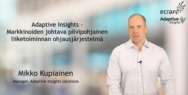 Adaptive Insights Webinaari – Liiketoiminnan suunnittelu ja ohjaus pilvessä