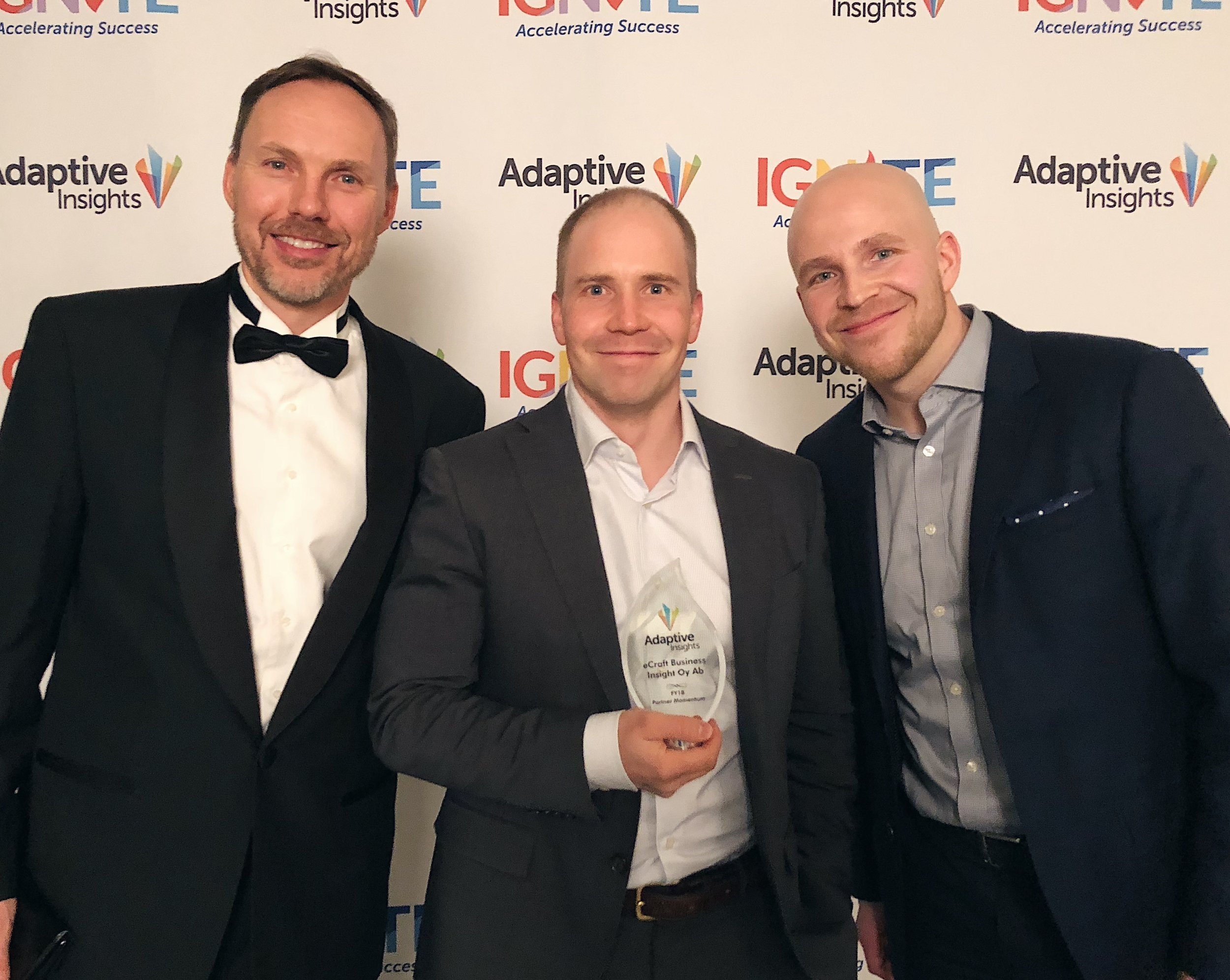 Adaptive Insights Partner of the Region: EMEA and Partner Momentum Awards