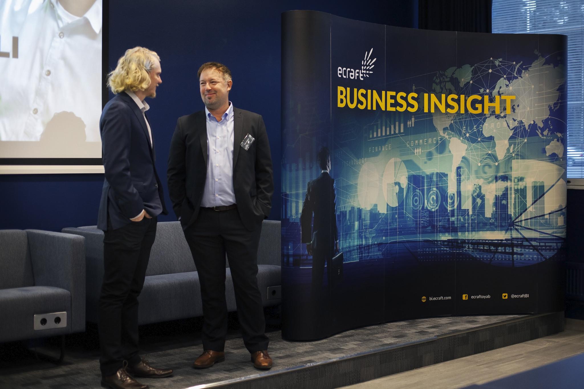 Mika Ahtinen ja Ville Airo eCraft Business Insight