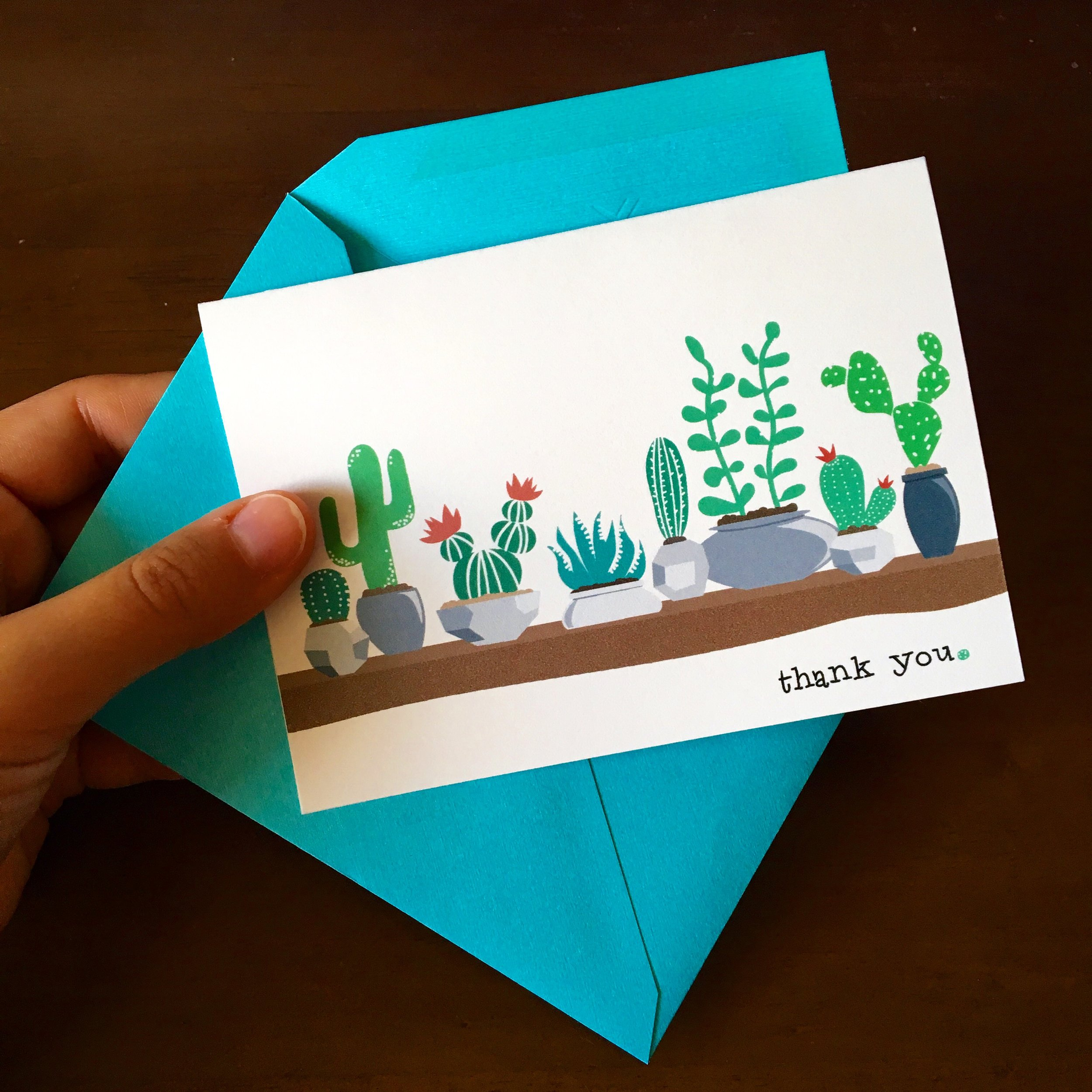 I loved my prints so much, I made them into greeting cards.