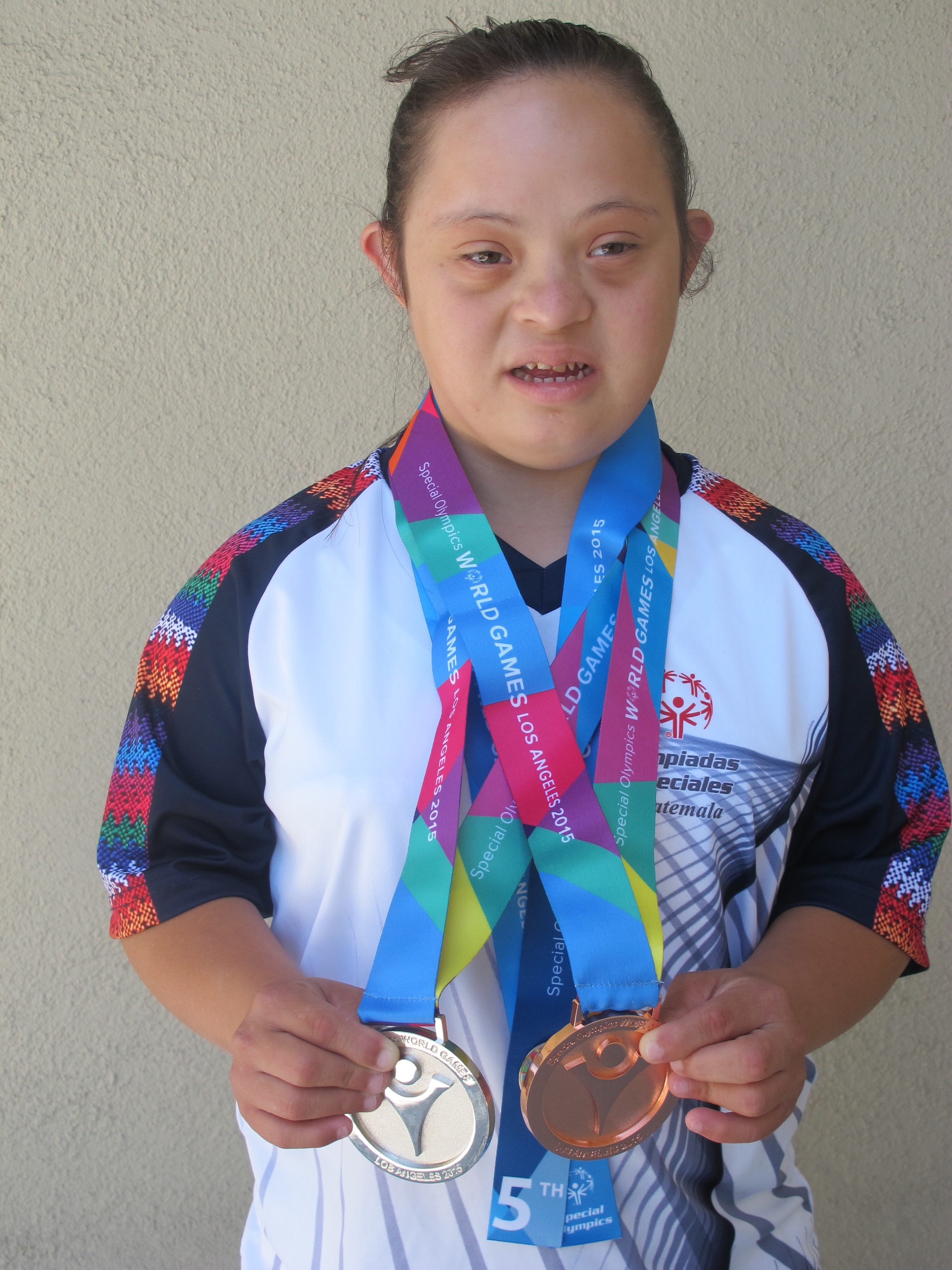 Astrid Barahona Equitación Bronce  en English Equitation y Plata Team Relay con Bulgaria.JPG