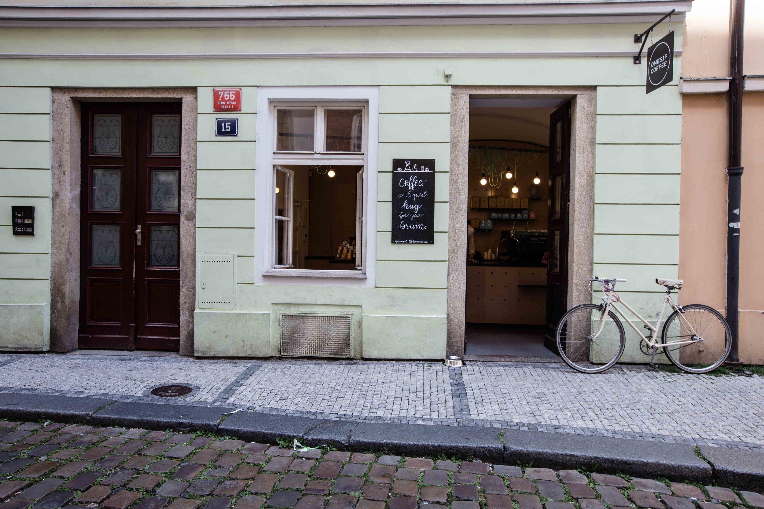 onesip specialty coffee shop prague
