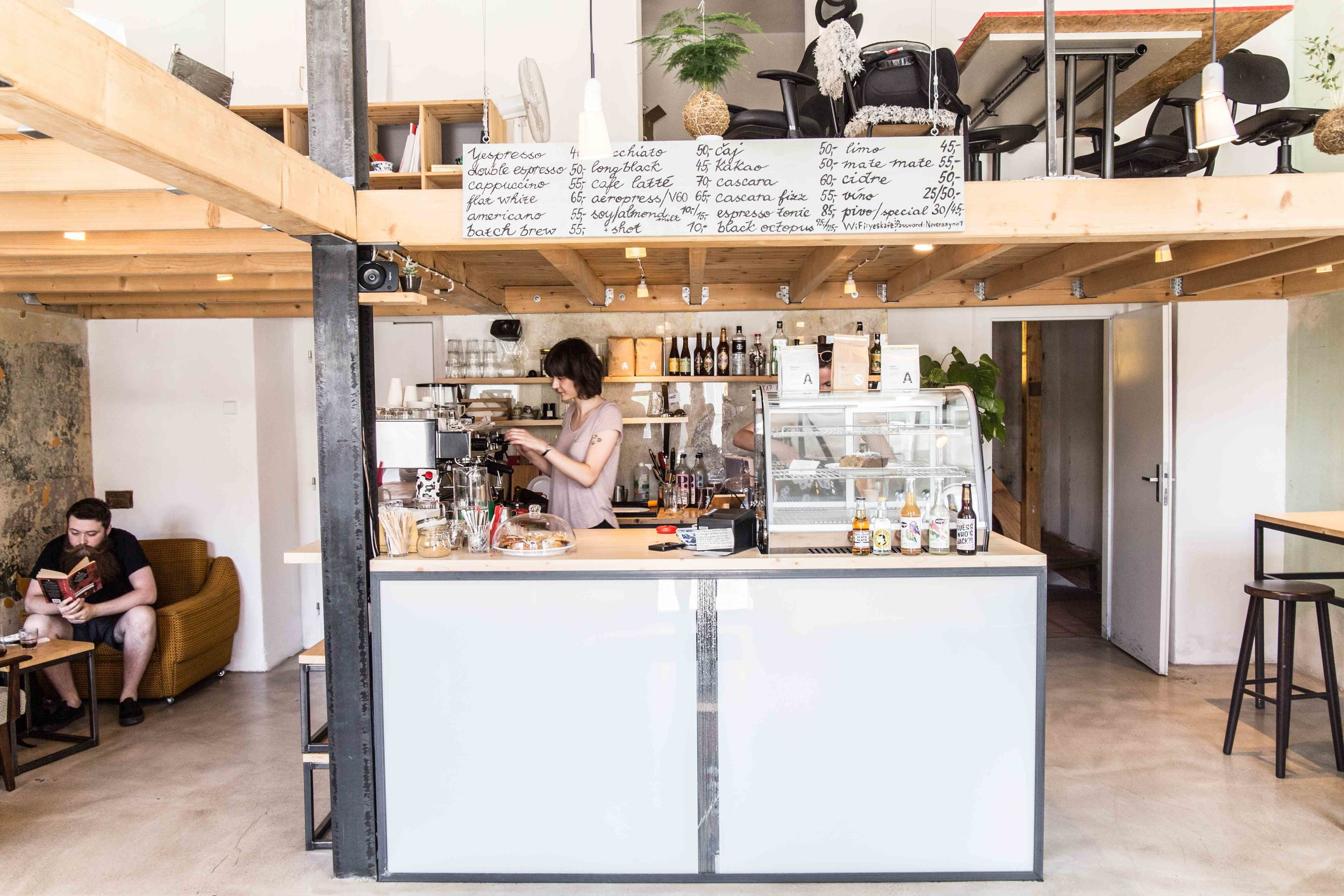 ye's specialty coffee shop prague
